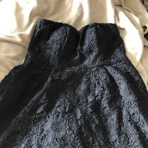 Black dress - longer on the back